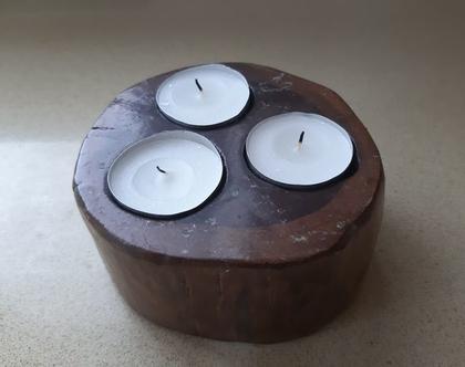 פמוט שלושה נרות