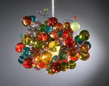 גוף תאורה כדורים תלויים מולטי קולור
