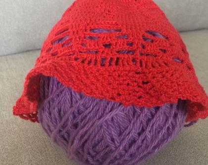 כובע סרוג לתינוק עד 12 חודשים