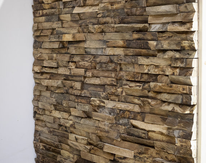 חיפוי עץ לקיר - קליפות כהה