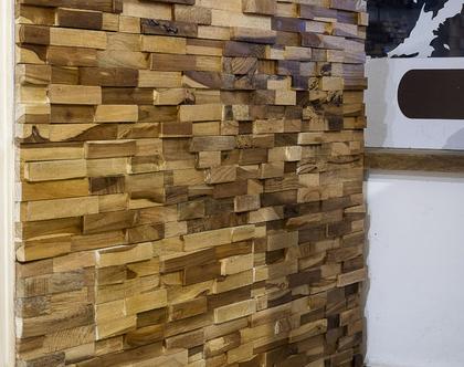 חיפוי עץ לקיר - כפרי