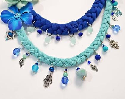 שרשרת ענק, כחול כחול