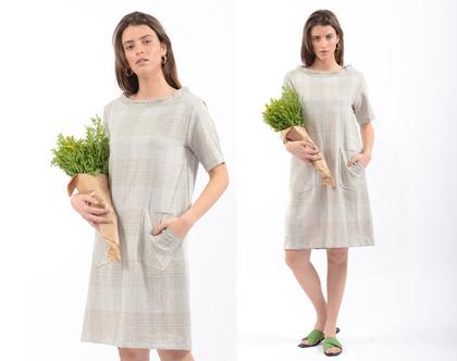 שמלת קיץ מפשתן אוורירי