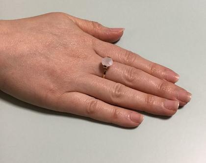 טבעת זהב stone לבנה, טבעת עדינה אבן לבנה, stainless steel, טבעת מעצבים ציפוי זהב, טבעת ניתנת להרחבה,Nickel free