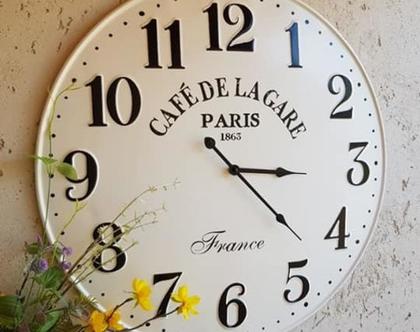 שעון פח לבן וינטג'