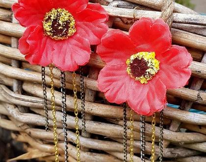 עגילים תלויים, פרח אדום