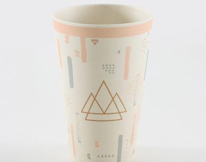 6 כוסות במבוק דגם אבסטרקט