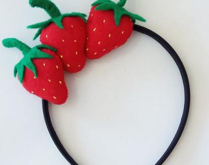 קשת לשיער שלושה תותים