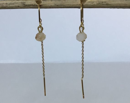 עגילי stainless steel זהב מאחורי התנוך, עגילים איכותיים נחבאים אבן קריסטל עגילי נשים, עגילים ארוכים, עגילים לכלה, עגילים לאירוע