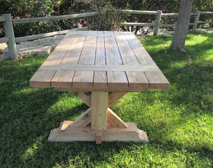 שולחן כפרי מעץ מלא