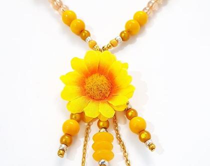 שרשרת ארוכה, חרצית אביבית צהובה