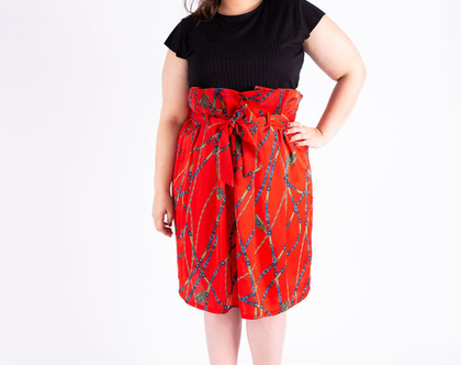 חצאית אודט אדומה