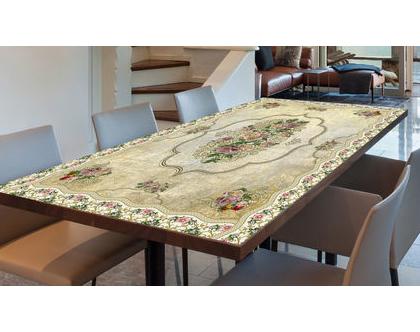 מפת שולחן פי.וי.סי - Vintage Design| מפת שולחן בעיצוב מקורי | מפת שולחן מבודדת חום | מפת שולחן בהתאמה אישית | מפות שולחן