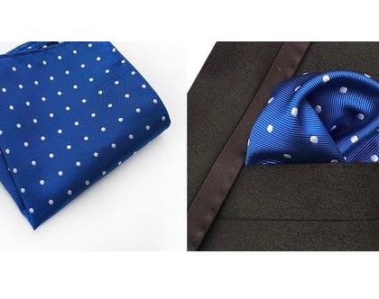 מטפחת כיס/חליפה לגבר איכות גבוהה ביותר, 100% משי שזור איכותי, גודל 25x25 ס״מ, דגם bb233 - משלוח חינם