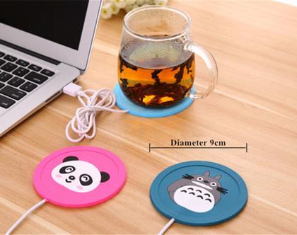 מחמם כוס עם כבל USB