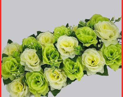 פרחים ותפוחים לראש השנה | מרכז שולחן חגיגי | פרחי משי