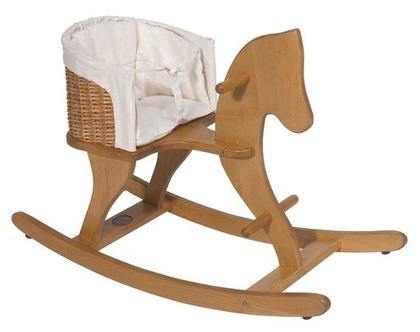 סוס נדנדה מושב קש