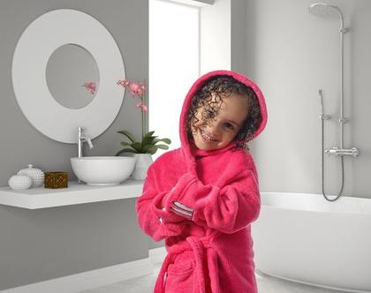חלוק רחצה דגמי ילדים 100% כותנה - במגוון צבעים