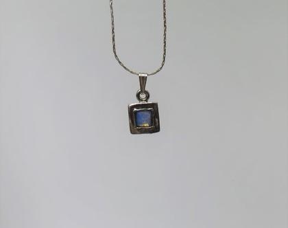 שרשרת משובצת אבן מכסף 925