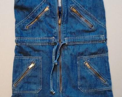 אוברול ג'ינס סיקסטיז סנטרופז היפי שיק | אוברול סנטרופז וינטג' מקורי משנות ה60' מידה XS