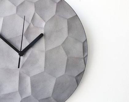 שעון קיר בטון טבעי