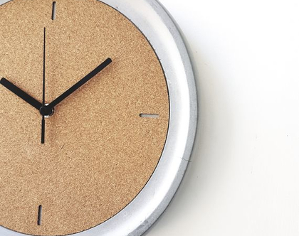שעון קיר בטון ושעם