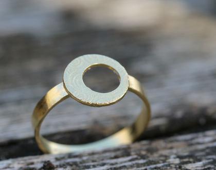 טבעת עדינה מזהב עם דוגמת ספירלה / R-273