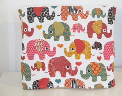 כיסוי למיקסר , מתנה למארחת , מתנה לפסח , דגם פילים ונקודות