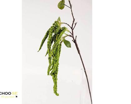 צמח מלאכותי, פרח מלאכותי, פרח משי, פרחי משי, עיצוב לשולחן, מתנה לחג, צמחייה, bd99-2 אמרנטוס ירוק