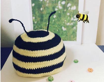 כובע דבורה 6-12 חודשים
