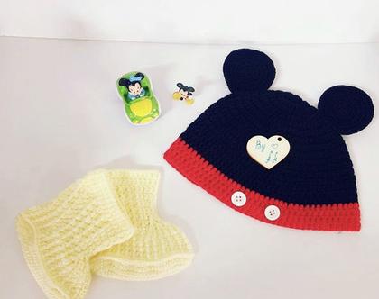 כובע דגם מיקי מאוס מידה 6-12 חודשים