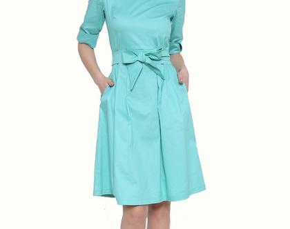שמלת כפלים קלאסית מנטה