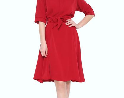 שמלת מרלין אדום יין