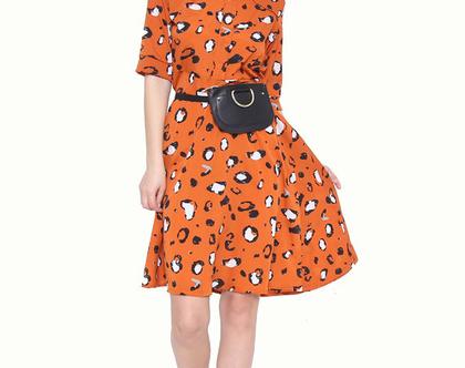 שמלת מרלין מנומר