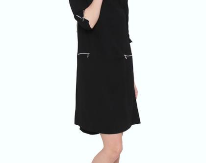 שמלת רוכסנים שחור