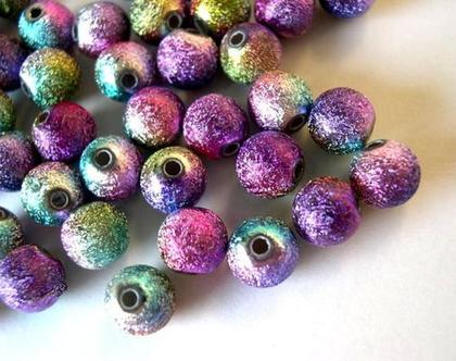 """חרוזים עגולים, חרוזי פלסטיק אקריליים, 30 חרוזים צבעוניים בצבעים מתחלפים 6 מ""""מ"""