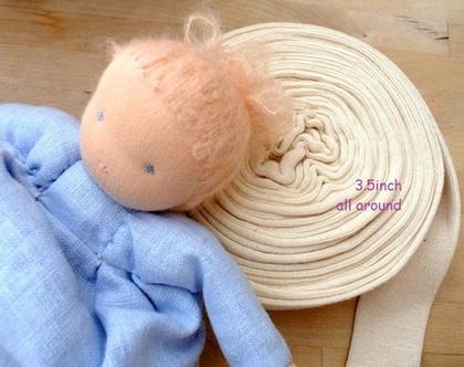"""גרב כותנה סריג אלסטי להכנת בובות ולהכנת החלק הפנימי של ראש לבובה """"אנתרופוסופית"""" -1 מטר"""