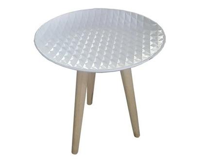שולחן צד, שולחן קפה, שולחן נוי, עיצוב לבית, שולחן לבן, שולחן קפה גאומטרי