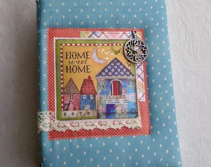 משלוח מיידי!!! מחברת מעוצבת דגם Home sweet home