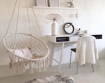 ערסל ישיבה לבן צח, כיסא תלוי, ערסלים לגינה ולמרפסת