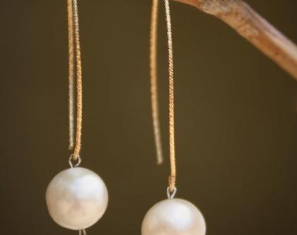 עגילי כסף 925   עגילי פנינה לבנה   עגילים מהממות ומיוחדות   עגילים בצורת טיפה פנינה מתורבתת Mor Jewellry