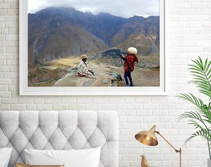 צילום על קנבס. נוף הררי. יפניות בגיאורגיה. גודל 50×100. מגיע בגדלים נוספים, בהתאמה ללקוח