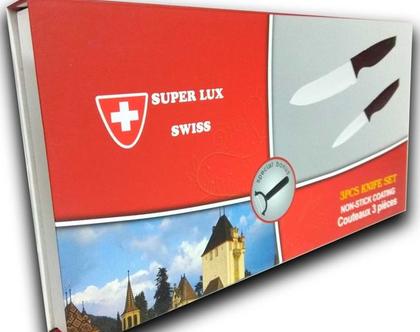 מארז 3 סכינים מקצועיות תוצרת שוויץ