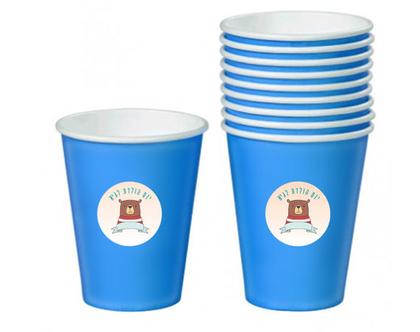 מדבקות עגולות להדבקה על כוסות צבעוניות | מיתוג כוסות למסיבות, ימי הולדת, בר מצוות ומסיבת רווקות
