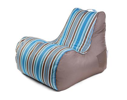 פוף כורסא חום-תכלת לבית ולגינה