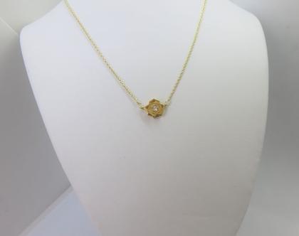 שרשרת שושנה מצופה זהב