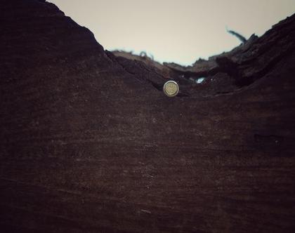 עגילי כסף צמודים מנורה