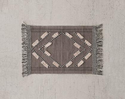 שטיחון נורדי אפור, שטיחון כותנה אפור, שטיחון גאומטרי אפור