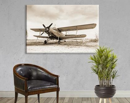 תמונה של אוירון ישן - Old airplane | תמונה בעיצוב מיושן - רטרו | תמונת אוירון ישן | Old airplane