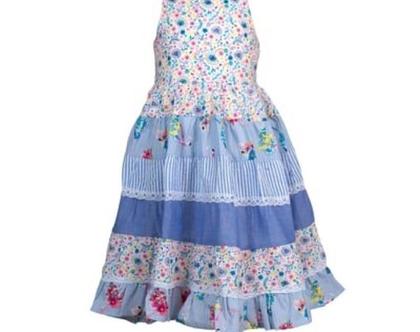 שמלה מסתובבת לילדה   שמלת קומות לילדה   שילובי בדים- מיילי